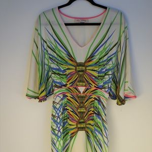 Mara Hoffman Silk Abstract Print Dress
